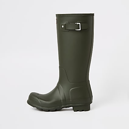 Hunter Original green tall wellington boots