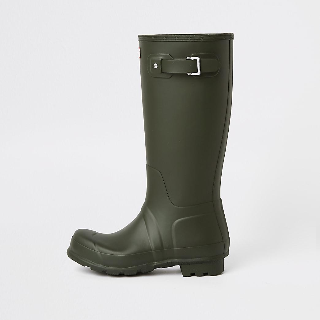 Hunter Original green tall wellington boots