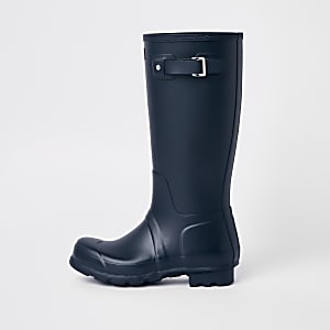 Hunter Original navy tall wellington boots