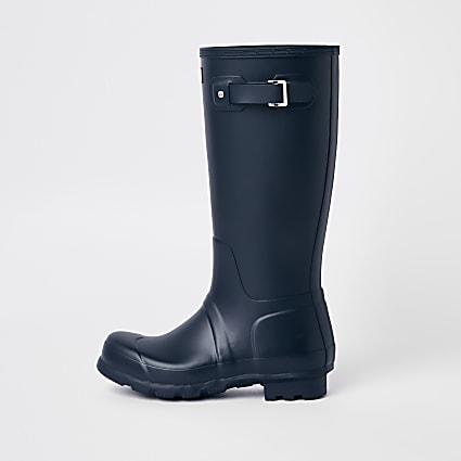 Hunter Original navy tall wellington boots