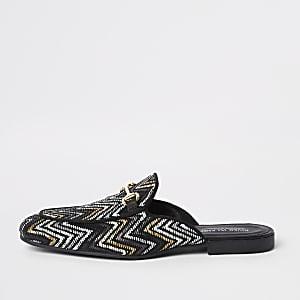 Loafer in Schwarz und Gold