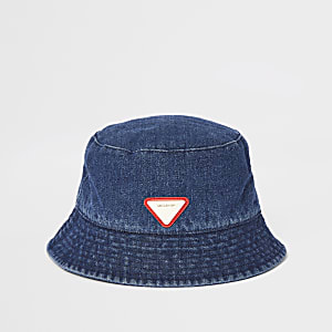 Blauwe denim pet