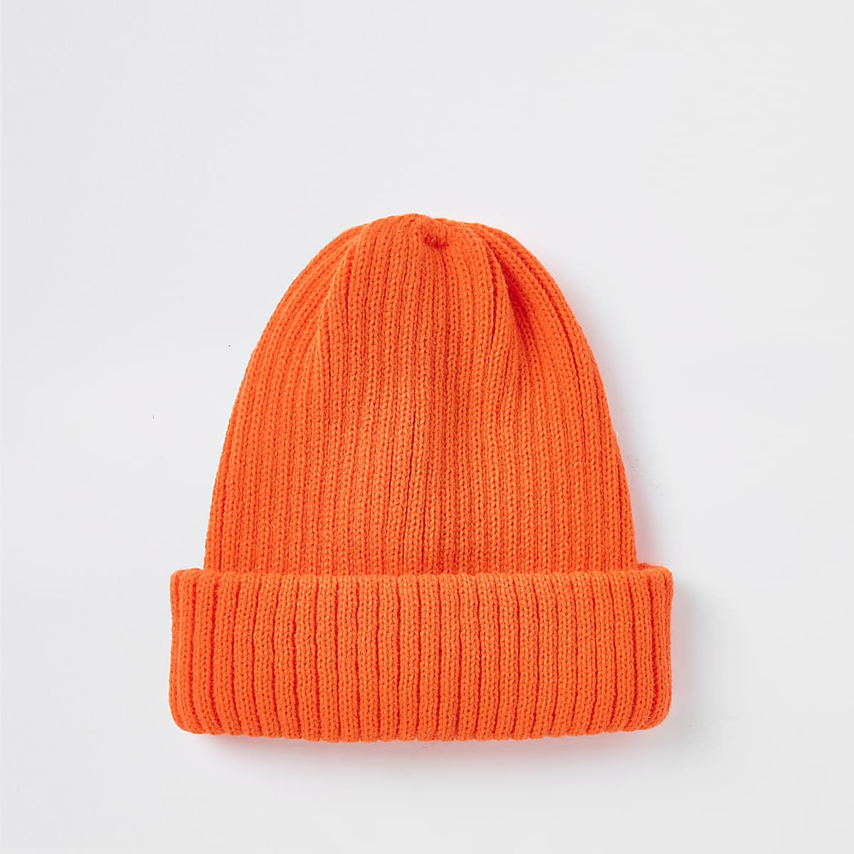 d25a84b846068 Neon orange fisherman knit beanie hat - Hats   Caps - Accessories - men