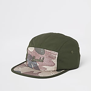 Herschel – Glendale – Grüne Kappe mit Camouflage-Print