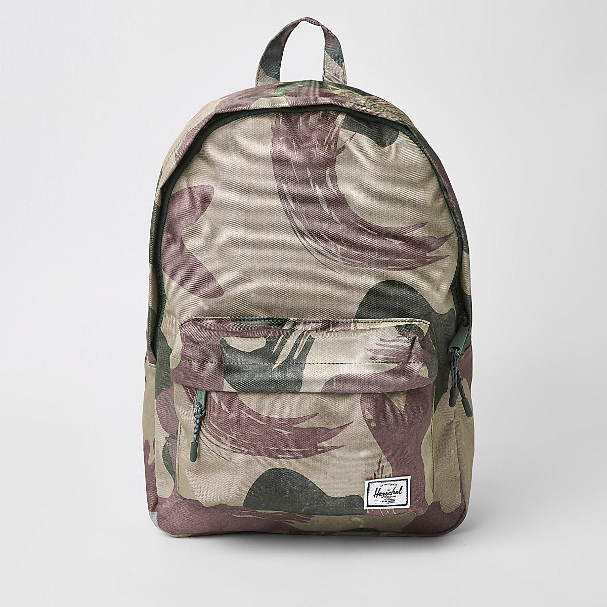 Herschel green Classic camo backpack