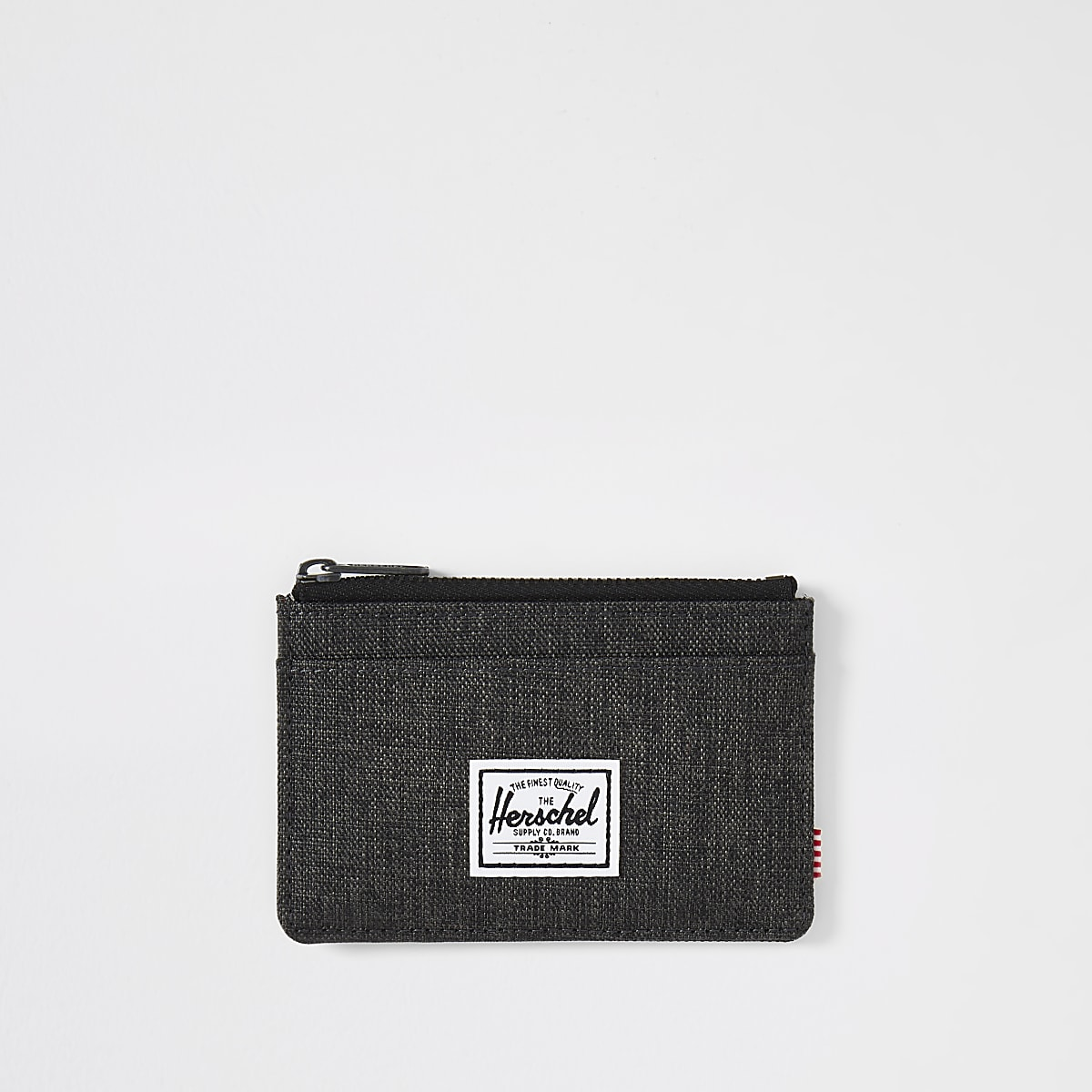 Herschel black Oscar crosshatch cardholder