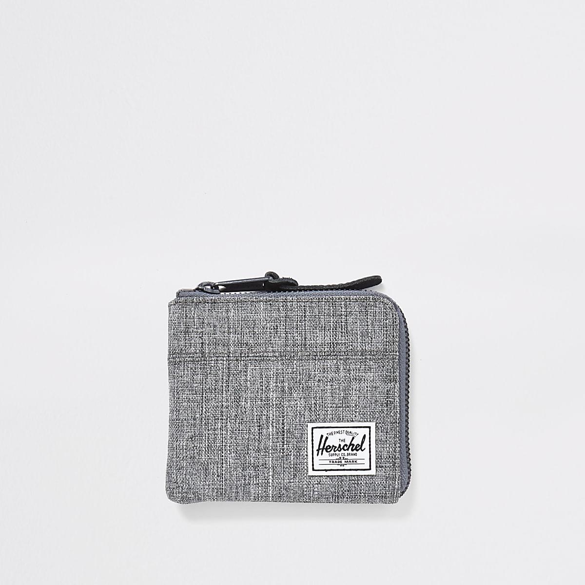 Herschel grey zip around wallet