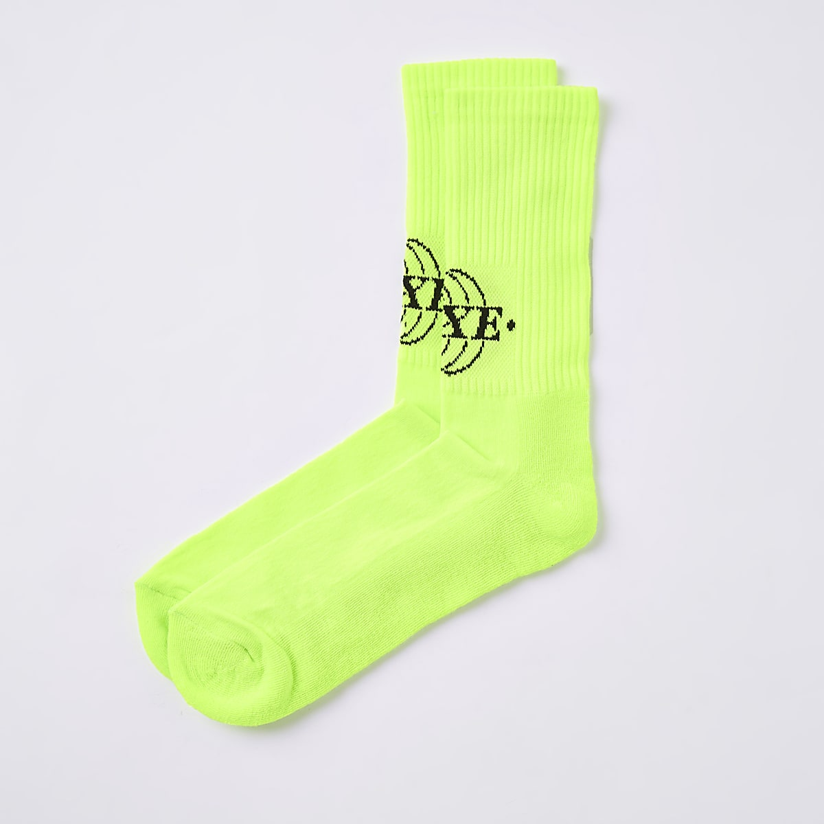 Neon yellow 'Luxe' socks