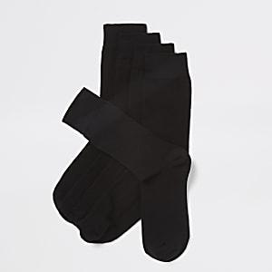 Lot de 5 paires de chaussettes noires