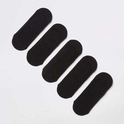 Black trainer liner socks 5 pack