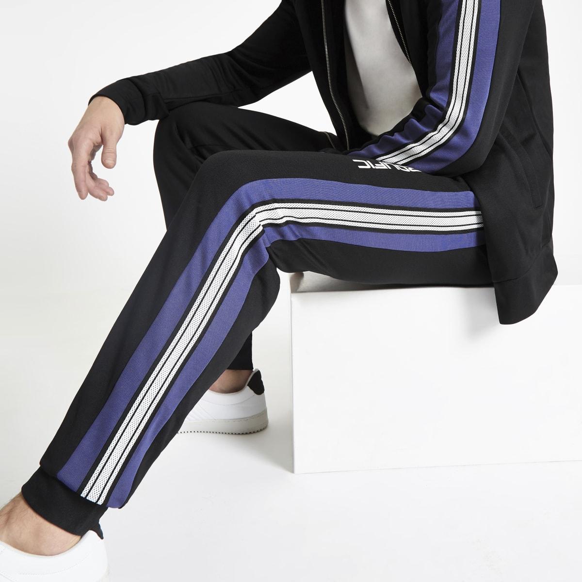 Pantalon de jogging slim à bande latérale «Prolific» noir