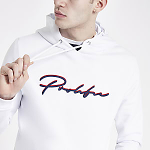 White 'Prolific' slim fit hoodie