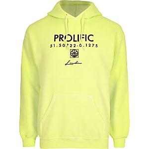 "Neongelber, langärmliger Hoodie ""Prolific"""
