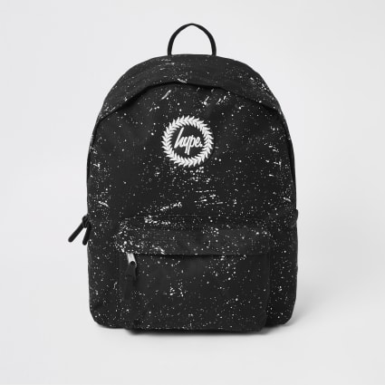 Hype black speckle backpack