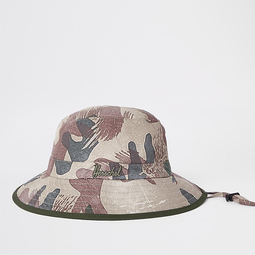 Herschel - Creek - Groene bucket hat met camouflageprint