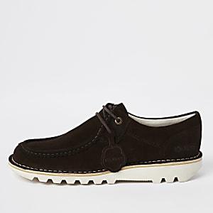 Kickers – Chaussures en daim marron foncé mi-hautes
