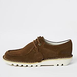 Kickers - Bruine halflage suède schoenen