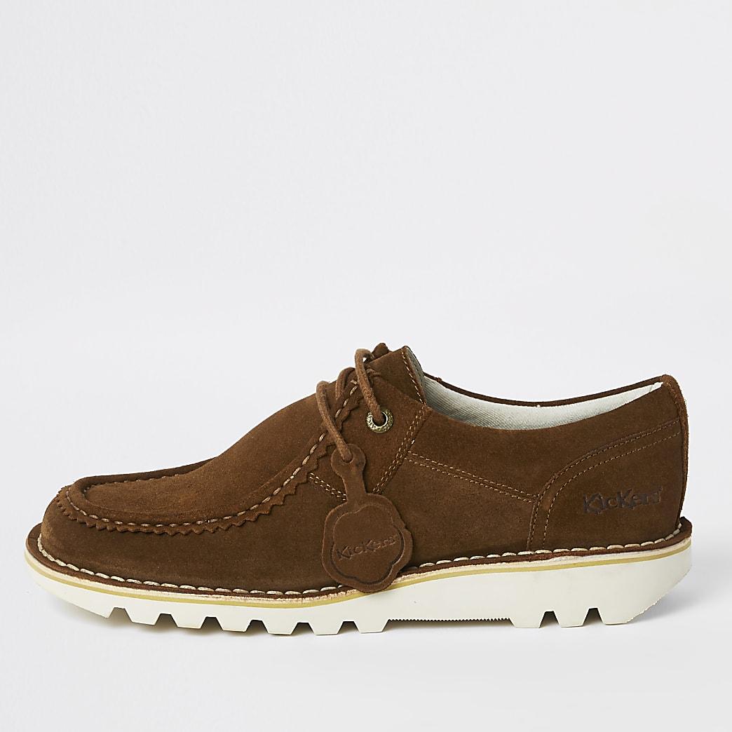 Kickers brown medium low suede shoes