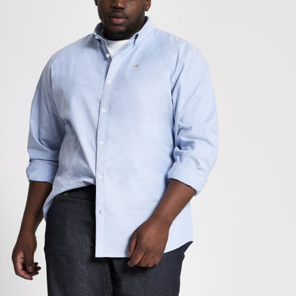 Big and Tall light blue slim fit shirt