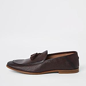 Loafer in Bordeaux aus Leder