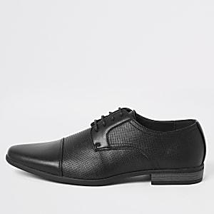 Chaussures derby noires à lacets