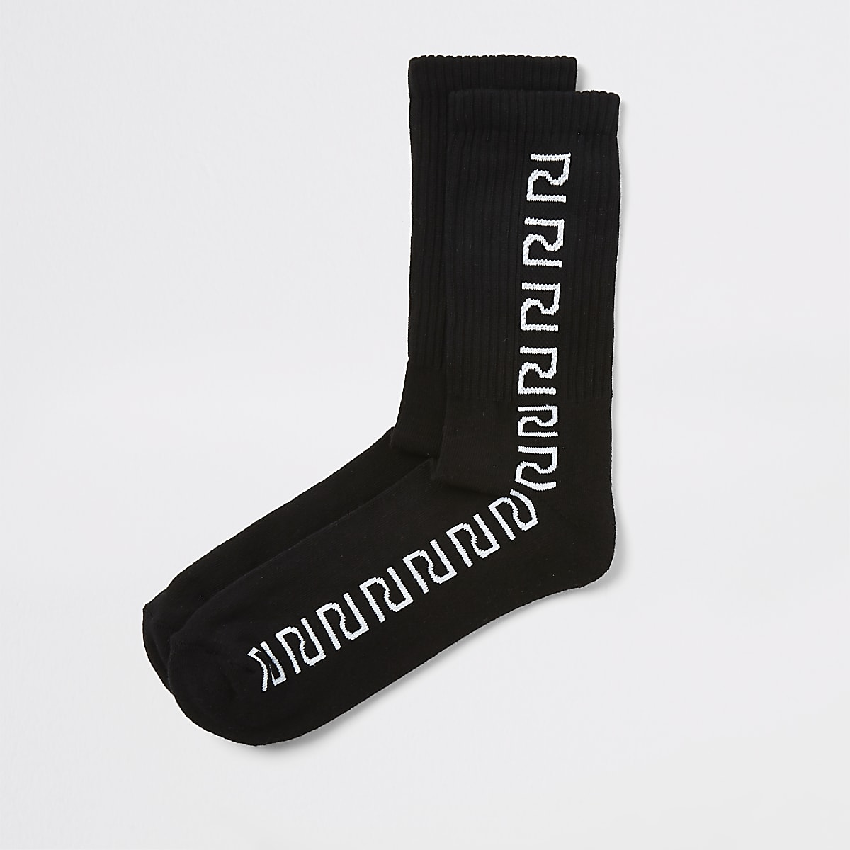 Black RI tube socks