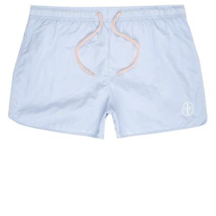 Big and Tall light blue runner swim shorts