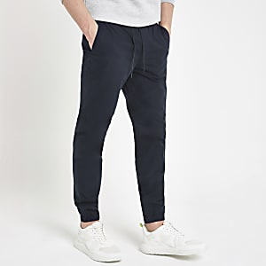 Navy cargo jogger trousers