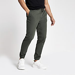 Dark grey cargo jogger trousers