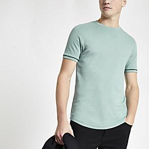 Mintgroen T-shirt met korte mouwen