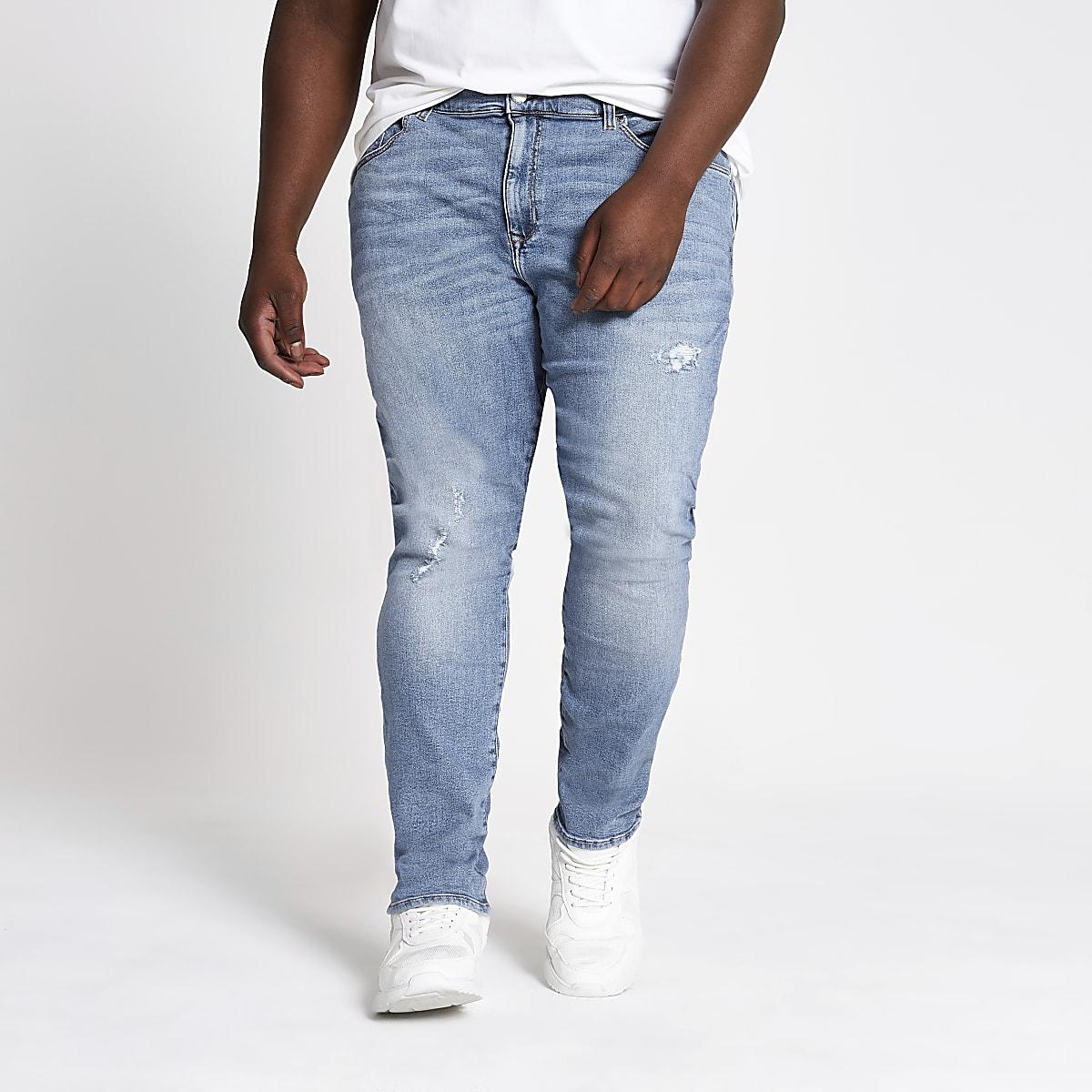 Big and Tall – Jean super skinny bleu clair
