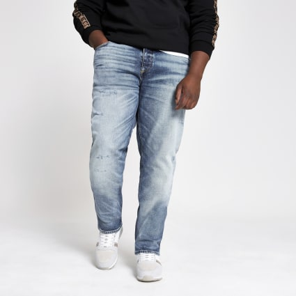 Big and Tall light blue Dylan slim fit jeans