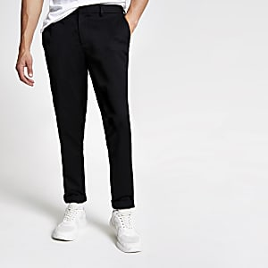 Zwarte slim-fit chino