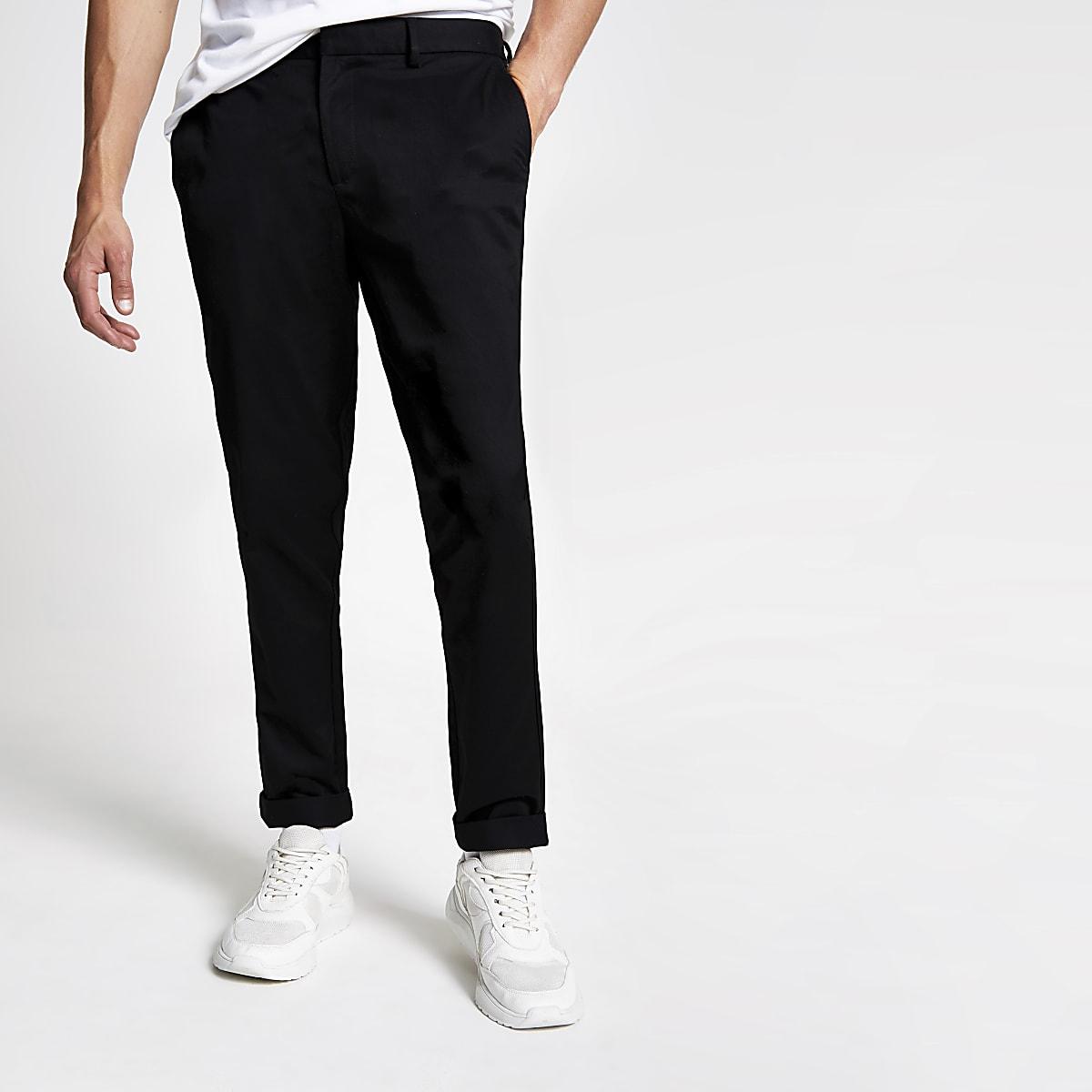 Pantalon chino noir coupe slim