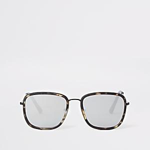 Graue Sonnenbrille in Schildpattoptik