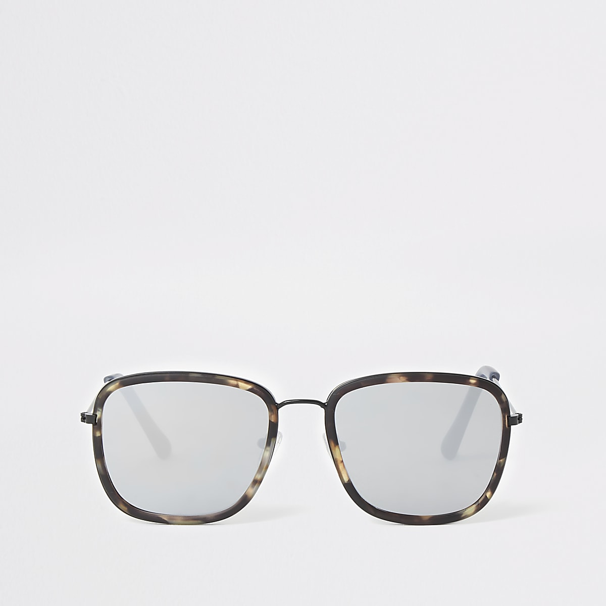 Grey tortoise shell navigator sunglasses