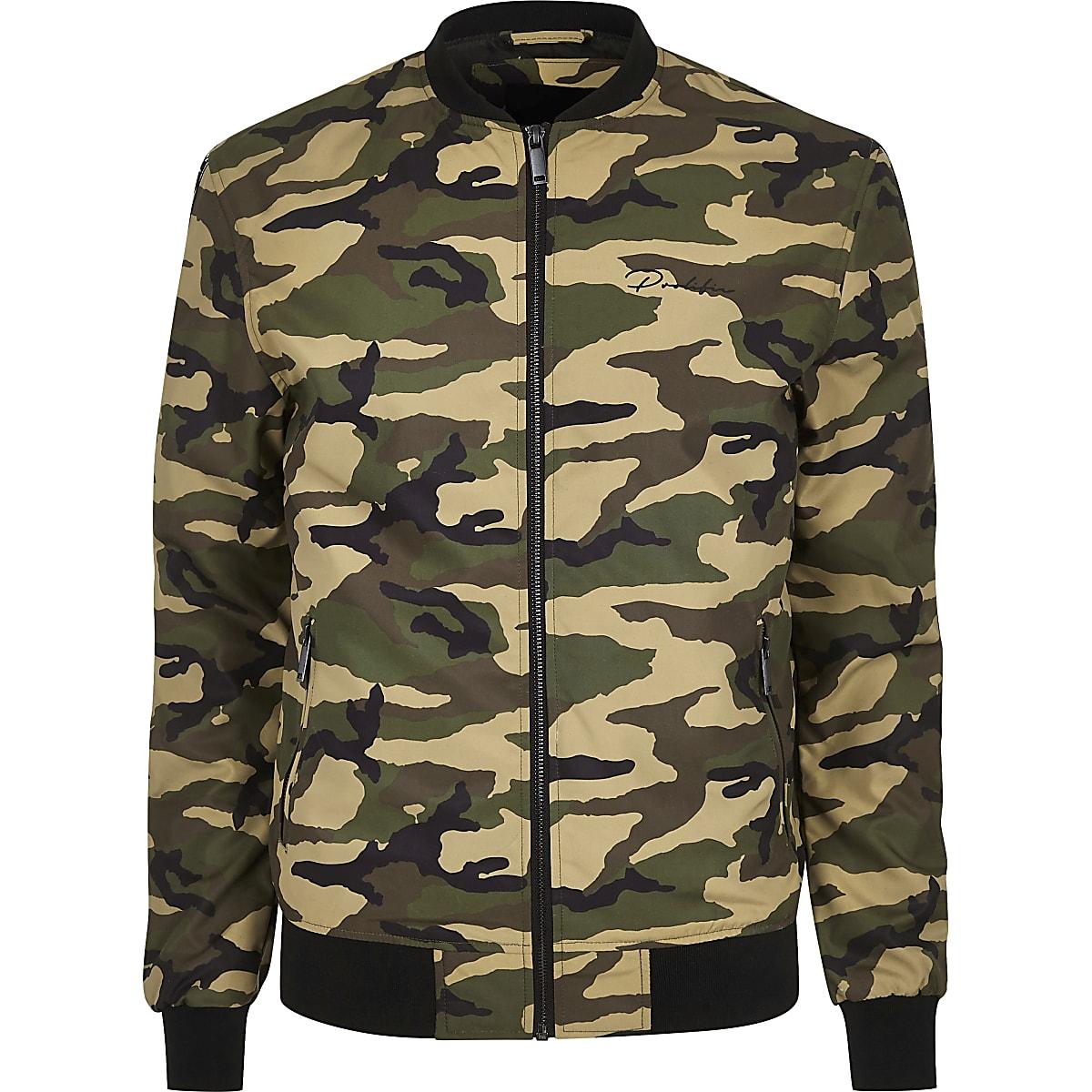 d779277d1 Green camo Prolific bomber jacket