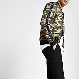Green camo 'Prolific' bomber jacket