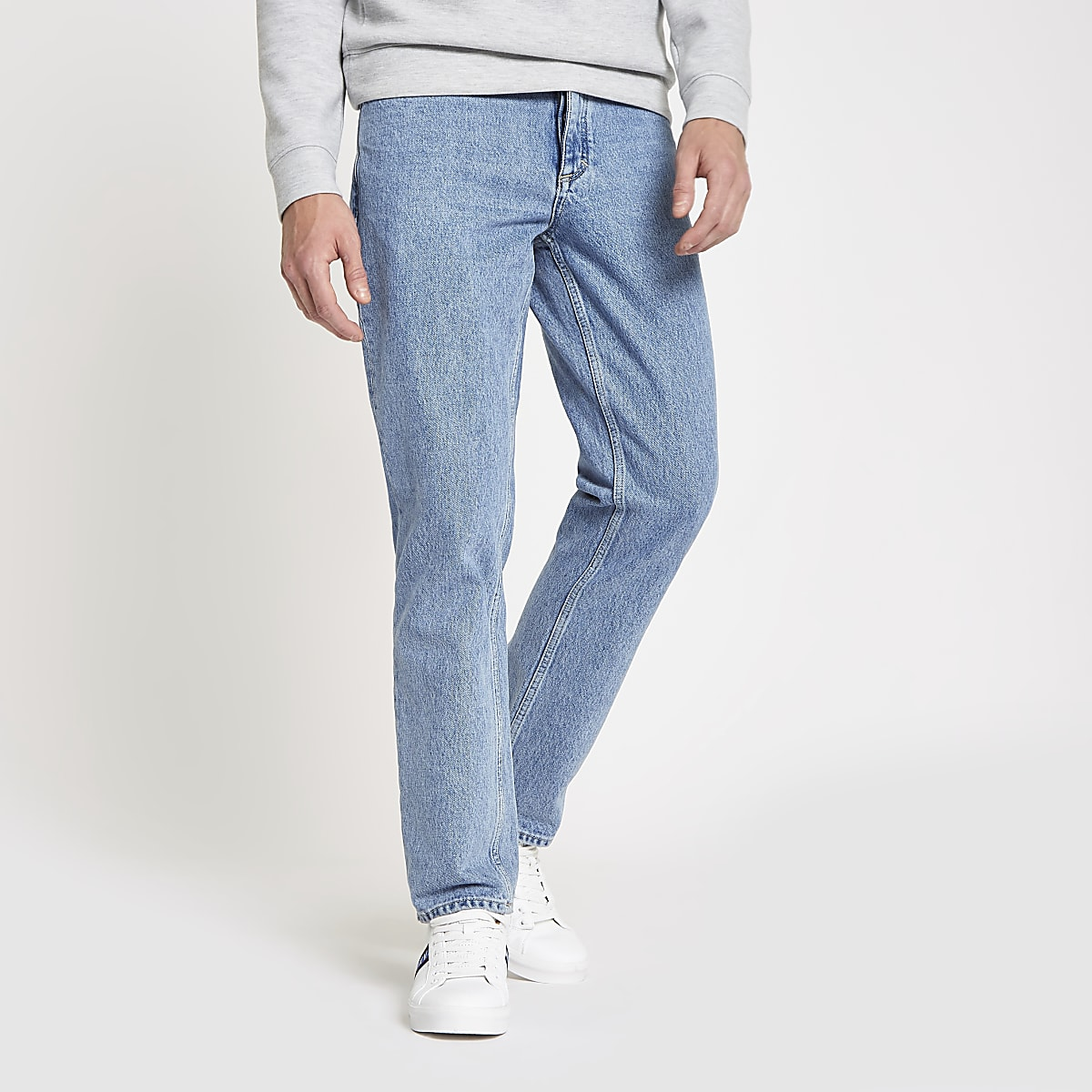 Light blue Dean straight leg jeans