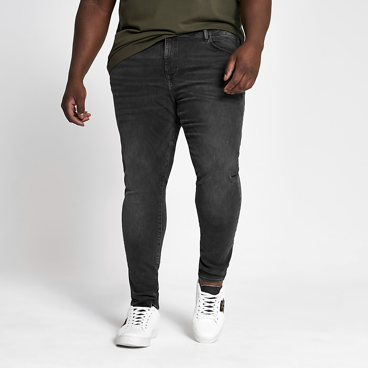 Big and Tall - Zwarte superskinny jeans