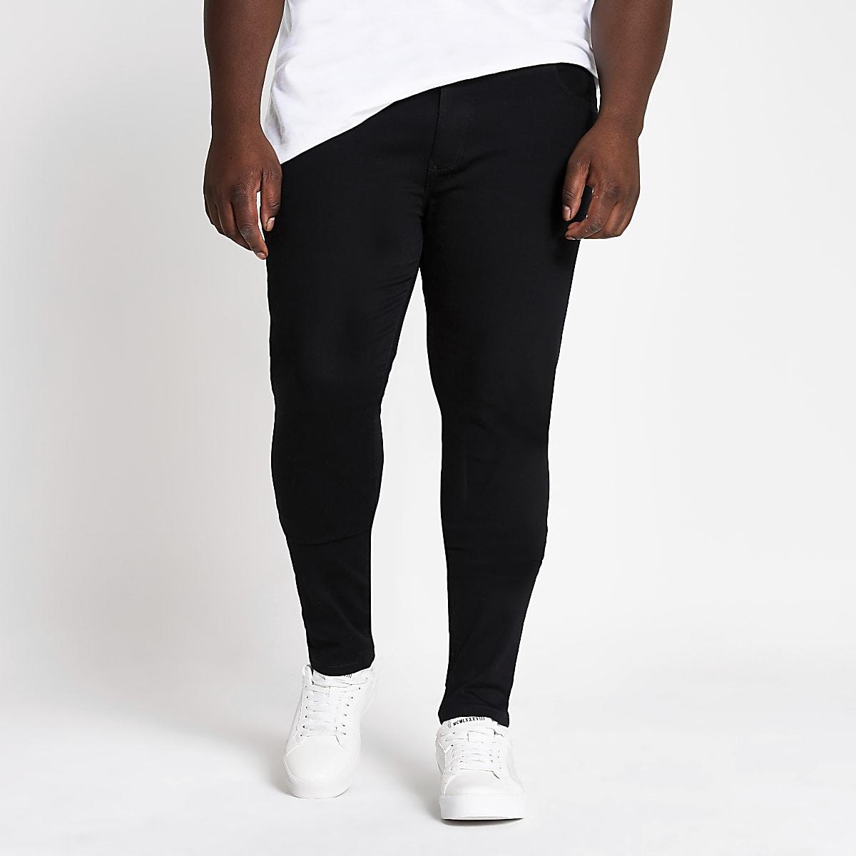 Big and Tall – Ollie – Jean ultra-skinny noir