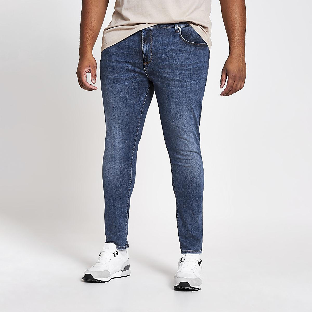 Big and Tall – Ollie – Jean seconde peau bleu moyen