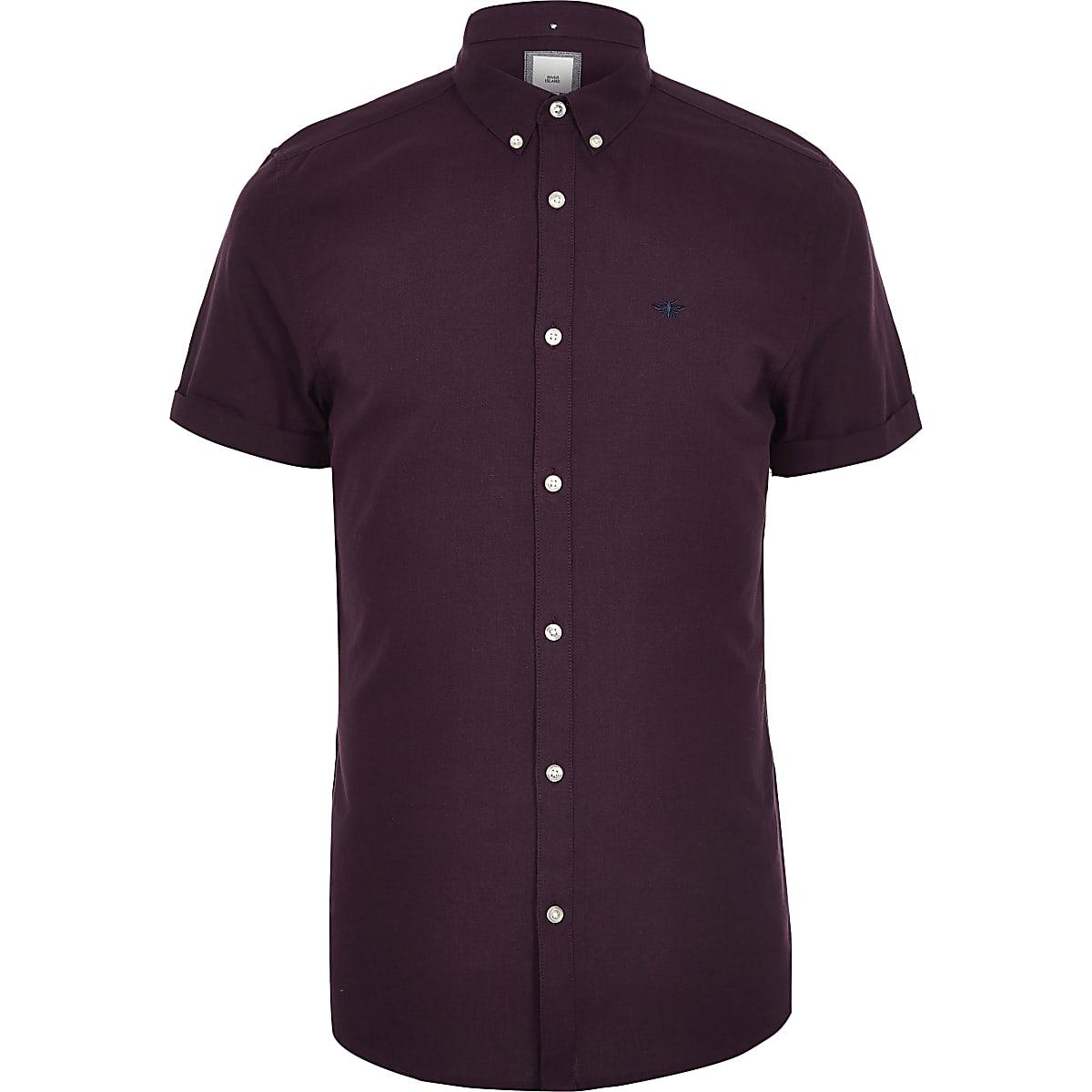 Big & Tall – Dunkelrotes Oxford Hemd