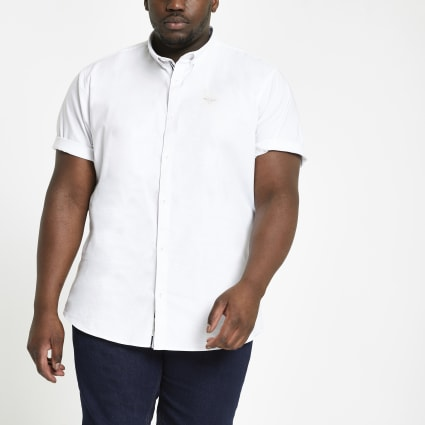 Big and Tall white regular fit Oxford shirt