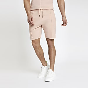 Pinke Slim Fit Jersey-Shorts