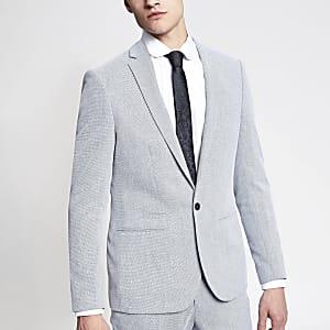 Hellblaue eng geschnittene Anzugjacke