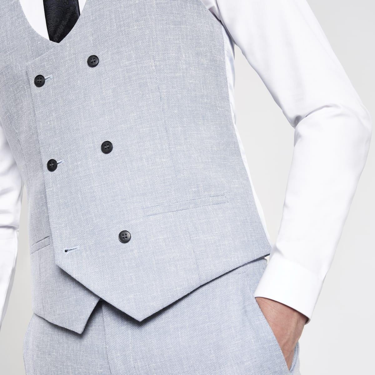 Light blue suit vest