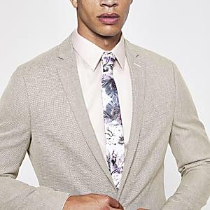 Veste de costume écrue skinny