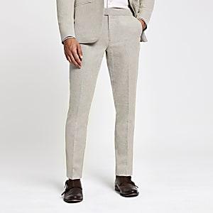 Ecru skinny pantalon