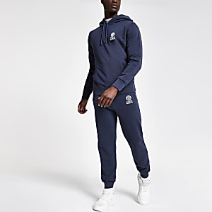 Franklin and Marshall - Marineblauwe hoodie